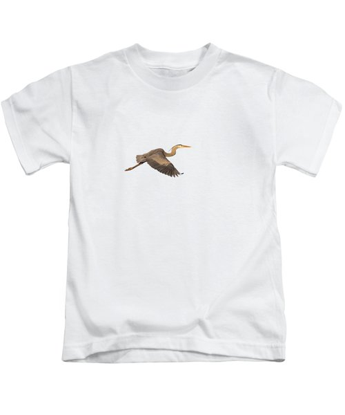 Isolated Great Blue Heron 2019-1 Kids T-Shirt