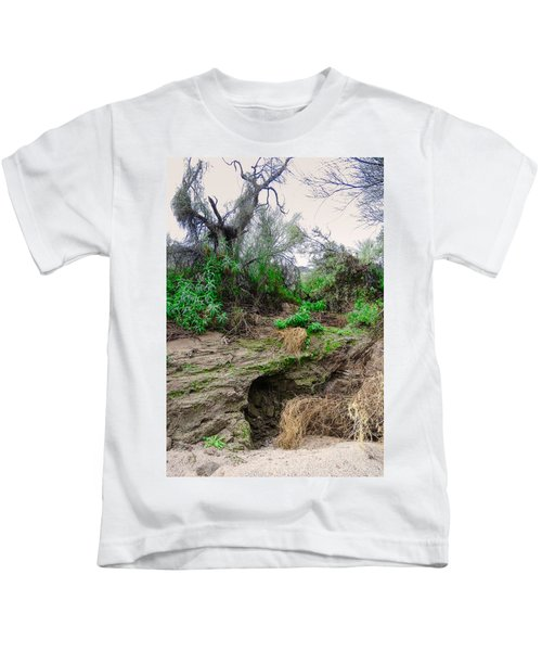 January Day  In The Vekol Wash Kids T-Shirt