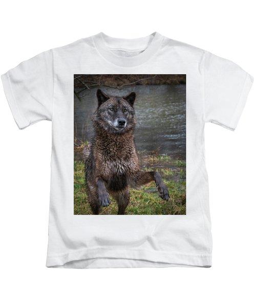 Jumping Boy Kids T-Shirt