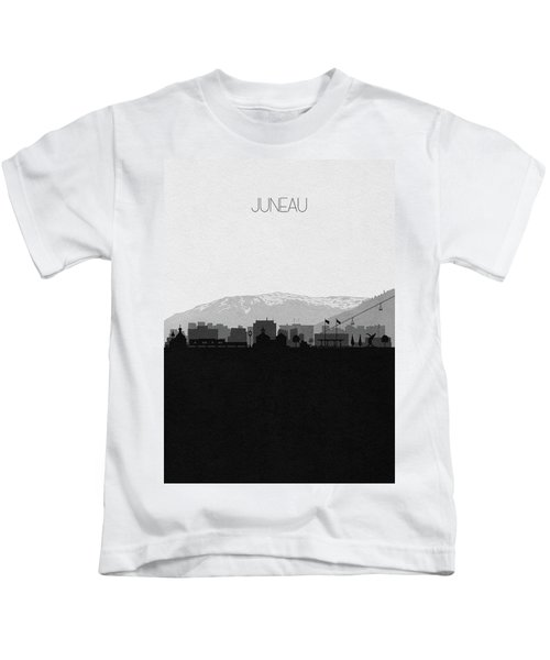 Juneau Cityscape Art Kids T-Shirt
