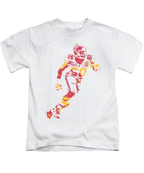 Justin Houston Kansas City Chiefs Apparel T Shirt Pixel Art 3 Kids T-Shirt
