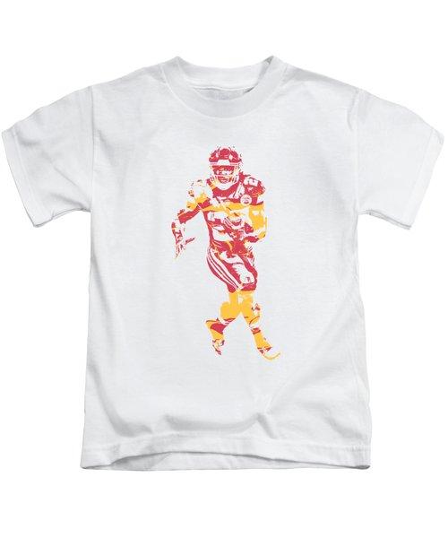 Kareem Hunt Kansas City Chiefs Apparel T Shirt Pixel Art 2 Kids T-Shirt