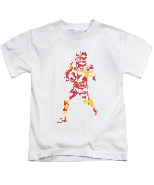 Kareem Hunt Kansas City Chiefs Apparel T Shirt Pixel Art 3 Kids T-Shirt