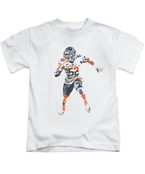 Khalil Mack Chicago Bears Apparel T Shirt Pixel Art 1 Kids T-Shirt
