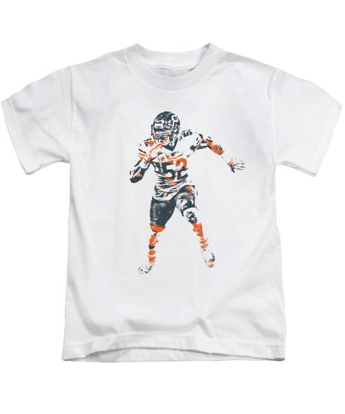 Khalil Mack Chicago Bears Apparel T Shirt Pixel Art 1 Kids T-Shirt