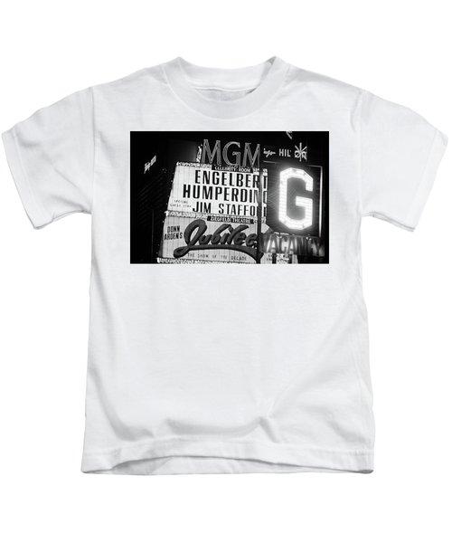 Las Vegas 1984 Bw #3 Kids T-Shirt