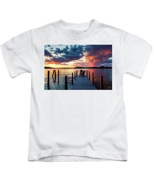 Late Summer Storm. Kids T-Shirt