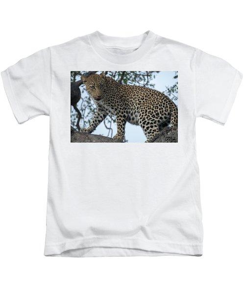 Leopard Anticipation Kids T-Shirt