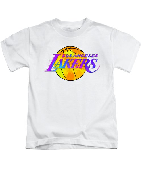 Los Angeles Lakers Paint Design Kids T-Shirt