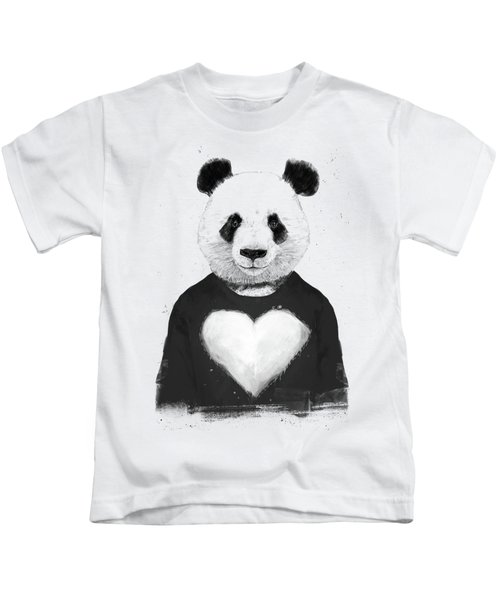 Lovely Panda  Kids T-Shirt