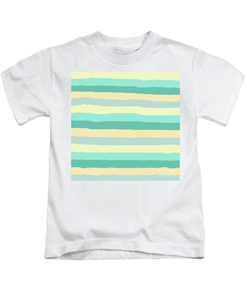 lumpy or bumpy lines abstract and summer colorful - QAB271 Kids T-Shirt