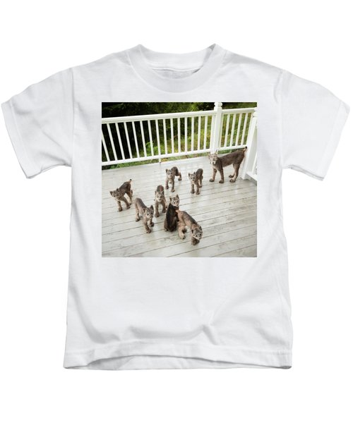 Lynx Family Portrait Kids T-Shirt
