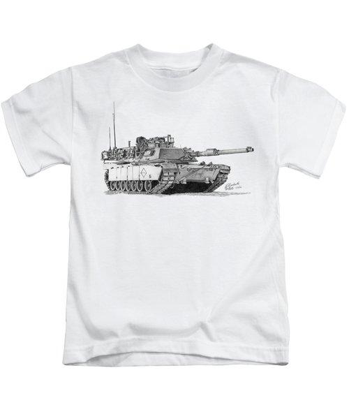 M1a1 Battalion Master Gunner Tank Kids T-Shirt