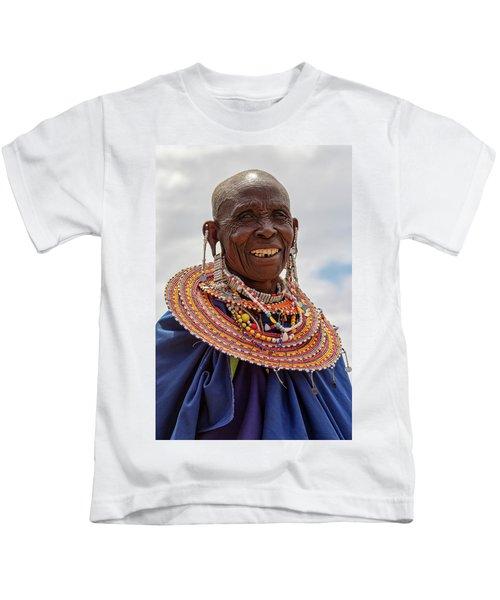 Maasai Woman In Tanzania Kids T-Shirt