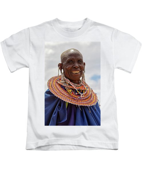 Maasai Woman In Tanzania Kids T-Shirt