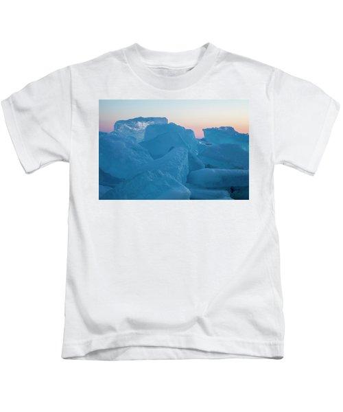 Mackinaw City Ice Formations 2161804 Kids T-Shirt