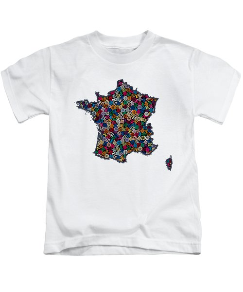 Map Of France-1 Kids T-Shirt