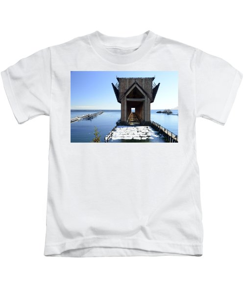 Marquette Ore Dock Cathedral Kids T-Shirt