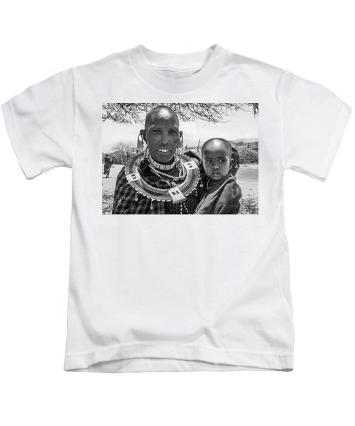 Masaai Mother And Child Kids T-Shirt