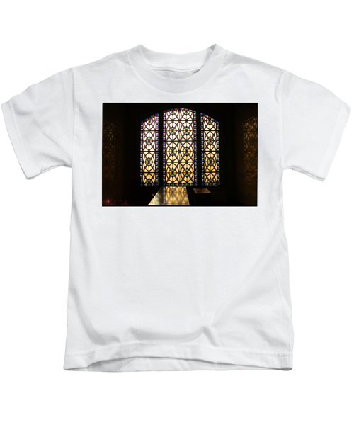 Mausoleum Stained Glass Kids T-Shirt