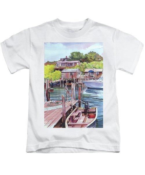 Menemsha Harbor Kids T-Shirt