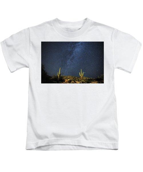 Milky Way And Cactus Kids T-Shirt