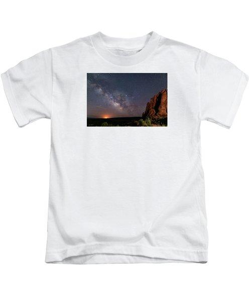 Milky Way At Navajo Rocks Kids T-Shirt
