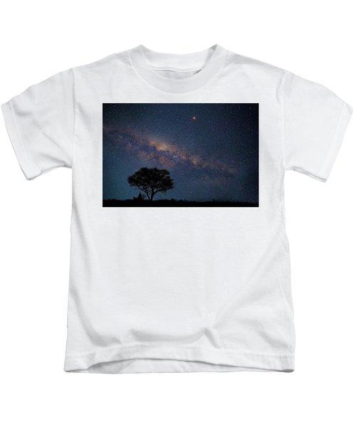 Milky Way Over Africa Kids T-Shirt