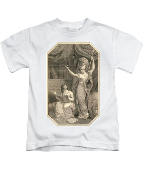 Minerva Directing Study To The  Attainment Of Universal Knowledge Kids T-Shirt