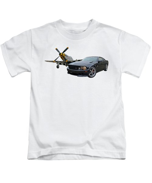 Mission Accomplished - P51 With Saleen Mustang Kids T-Shirt