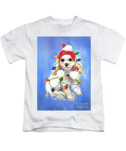 Mocha Merry And Bright Kids T-Shirt