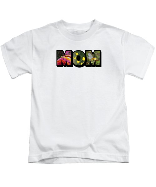 Mom Big Letter-great Mother's Day Gift Kids T-Shirt