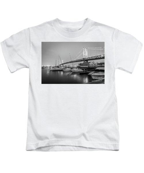Monochrome Marina  Kids T-Shirt