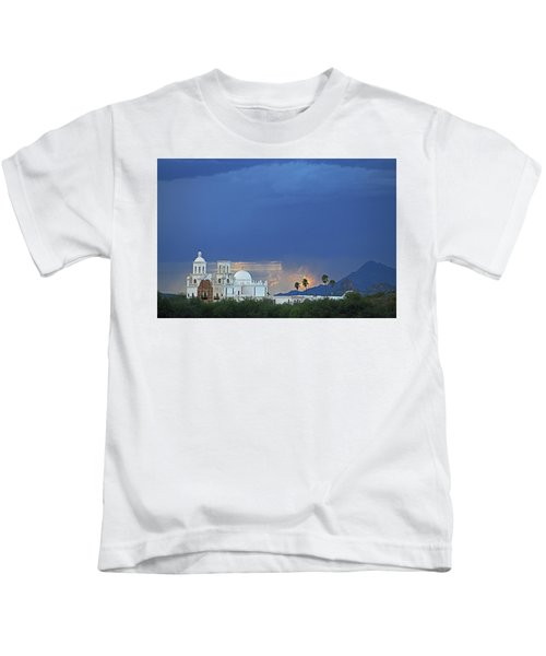 Monsoon Skies Over The Mission Kids T-Shirt