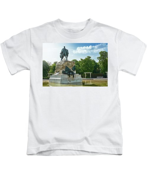 Monument To General Arsenio Martinez Campos In Madrid, Spain Kids T-Shirt