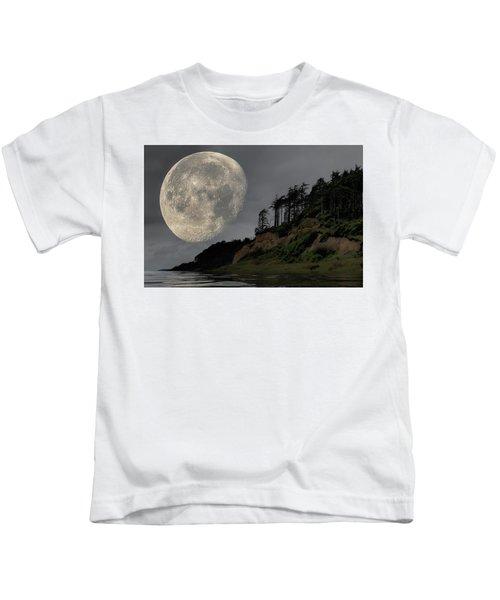 Moon And Beach Kids T-Shirt