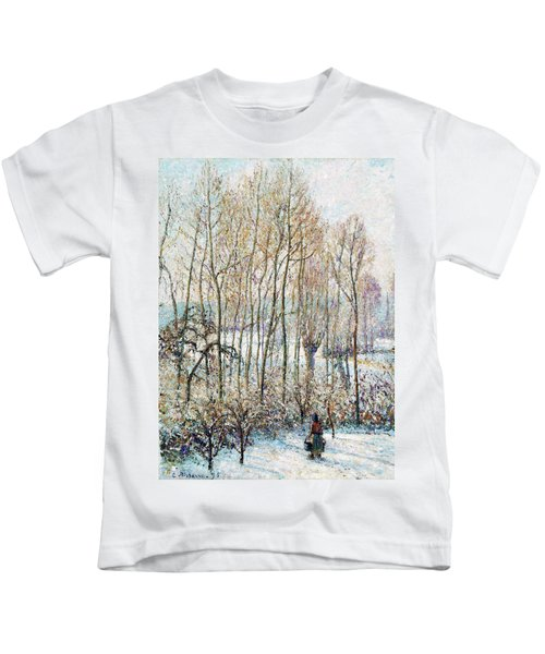 Morning Sunlight On The Snow, Eragny-sur-epte - Digital Remastered Edition Kids T-Shirt
