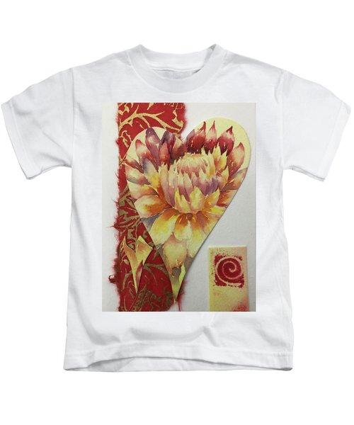 My Valentine Three Kids T-Shirt