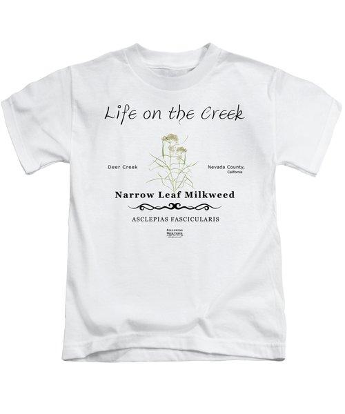 Narrow Leaf Milkweed Kids T-Shirt