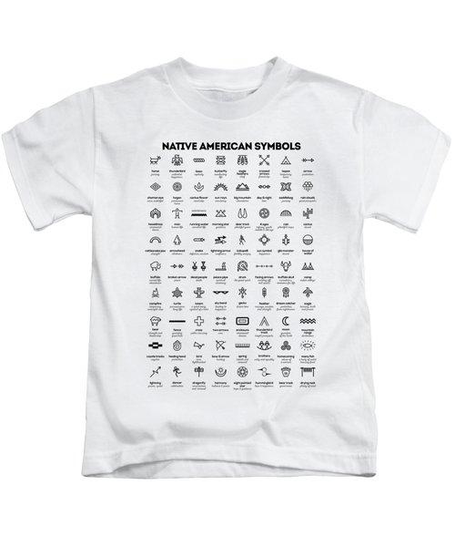 Native American Signs Kids T-Shirt