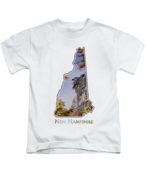 New Hampshire Old Man Logo Transparency Kids T-Shirt