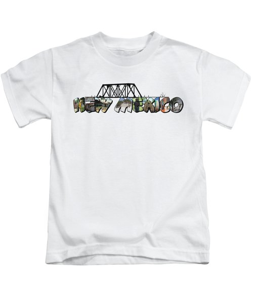 New Mexico Big Letter Kids T-Shirt