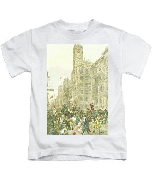 New Years Mummers On Chestnut Street Kids T-Shirt
