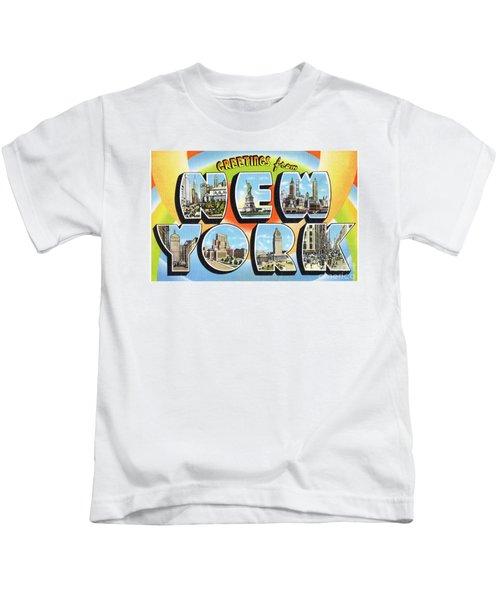 New York Greetings - Version  3 Kids T-Shirt