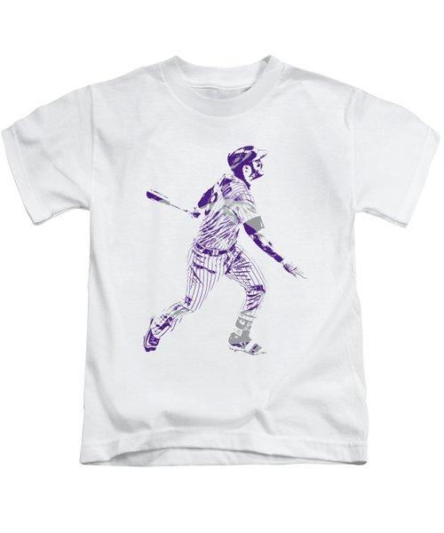 Nolan Arenado Colorado Rockies Pixel Art 5 Kids T-Shirt