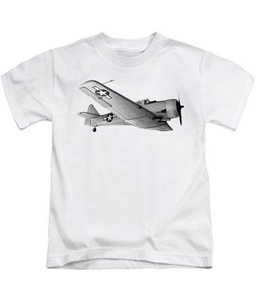 North American T-6 Texan Military Aircraft Kids T-Shirt