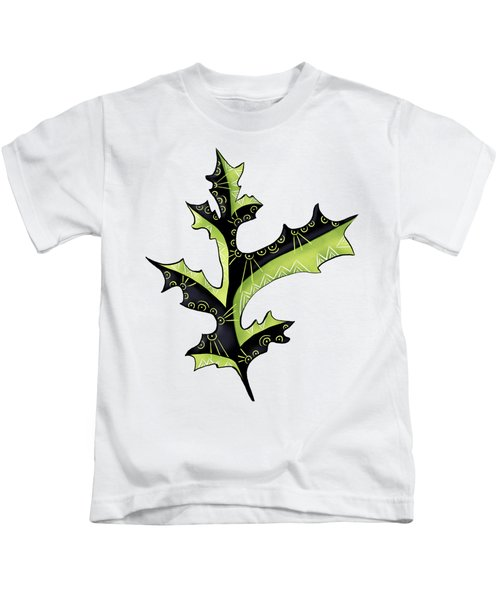 Oak Leaf With Tattoos Kids T-Shirt