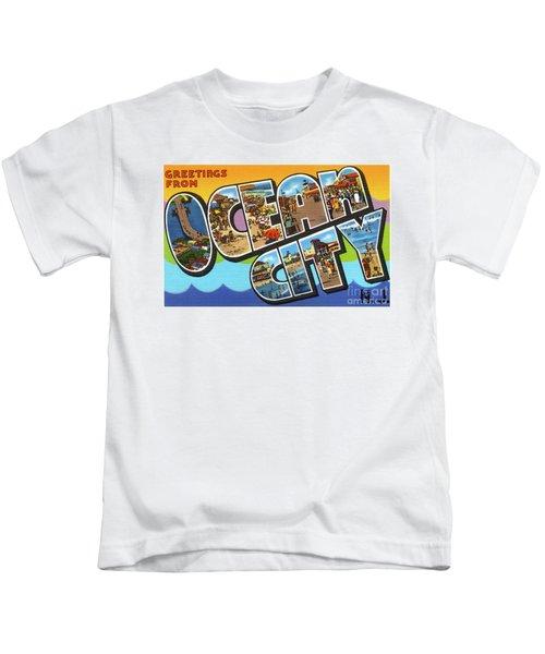 Ocean City Greetings Kids T-Shirt