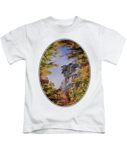 Old Man Oil Paint Transparent Oval Kids T-Shirt