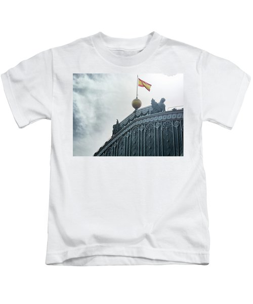 On Top Of The Puerta De Atocha Railway Station Kids T-Shirt